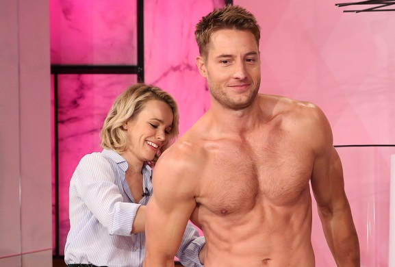 This Is Us hunk Justin Hartley strips