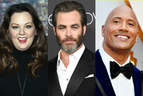 Saturday Night Live,克里斯潘恩(Chris Pine)、瑪麗莎麥卡錫(Melissa McCarthy)、巨石強森(Dwayne Johnson)