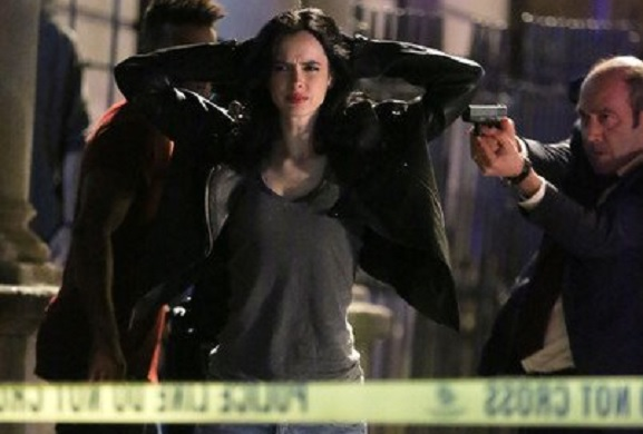 New Jessica Jones season 2 set photos are here - why are Jess and Trish getting arrested?