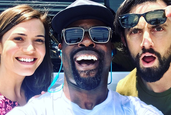 Back 2 Work! Reunited and it feels so good! @MiloVentimiglia @TheMandyMoore #PearsonPride #ThisIsUs