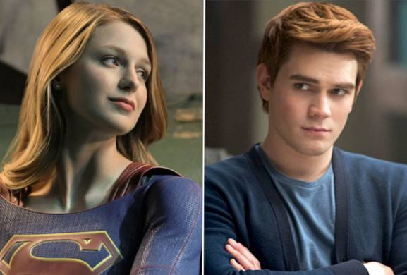 A Supergirl/Riverdale Crossover? Melissa Benoist Grabs a Booth at Pop's
