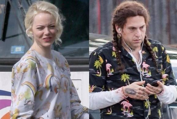 jonah-hill-sports-braids-on-maniac-set-with-emma-stone