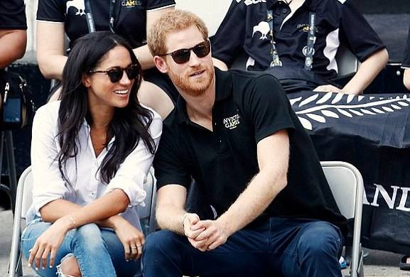 Harry, Meghan and a VERY discreet tea party with the Queen