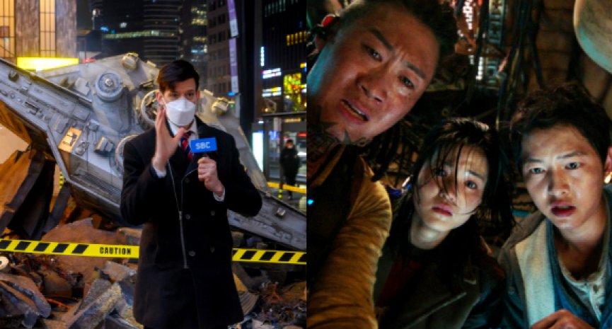 Netflix《勝利號》鬧出「重大事故」!首爾江南驚現太空物體