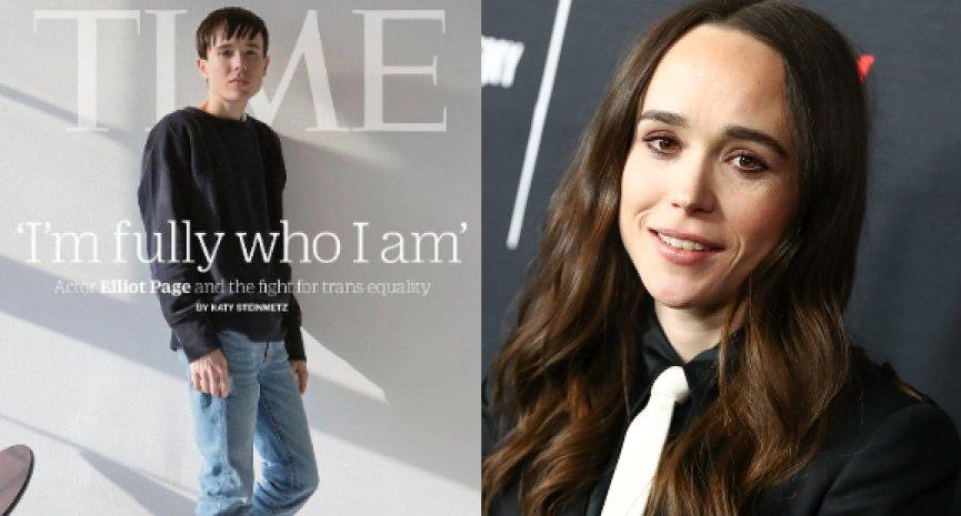 艾略特佩吉宣布跨性別後首登《時代雜誌》封面:終於成為真正的自己