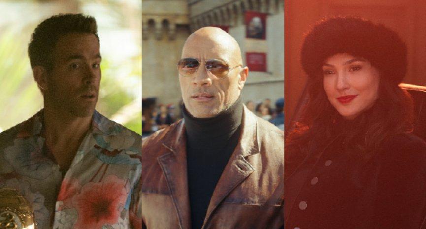Netflix動作鉅片《紅色通緝令》首曝預告!巨石強森槓上「神力女超人」、「死侍」緝捕要犯