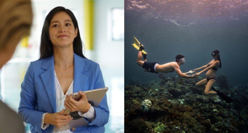 全球首創!《決戰水下伸展台》最美媽咪Janet帶觀眾瘋台灣水下