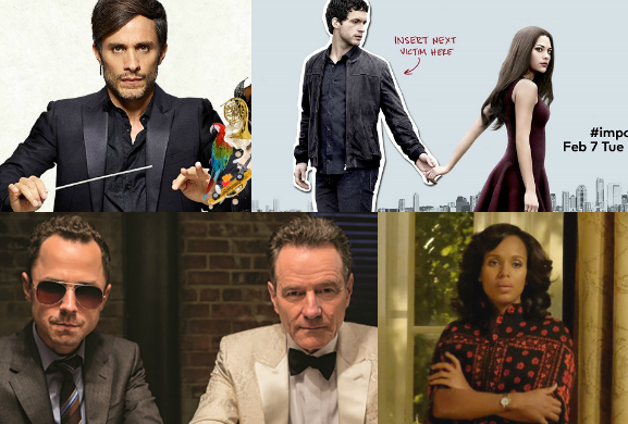 Scandal,Mozart in the Jungle,Imposters,Sneaky Pete